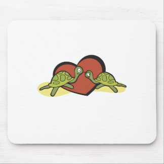 Valentines Turtle Love Mouse Pad