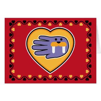 Valentine's Walrus card