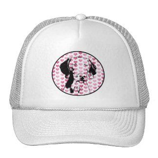 Valentines - Weimaraner Silhouette Hat