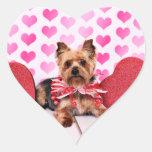 Valentines - Yorkie - Pixie Heart Sticker
