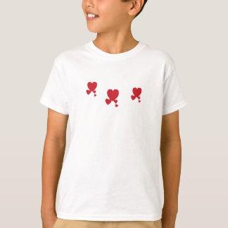 Valentin's Day Hearts T-Shirt Girl's