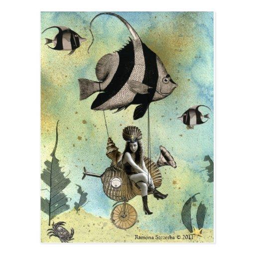 Valenzia & her Angelfish Racer Postcard