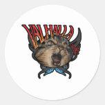 Valhalla Round Sticker