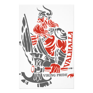 Valhalla - Viking Pride - Shield and Axe Design Stationery Paper