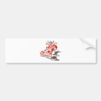Valhalla - Viking Pride - War Armor Axe Design Bumper Sticker