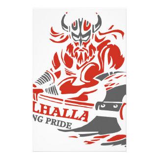 Valhalla - Viking Pride - War Armor Axe Design Stationery
