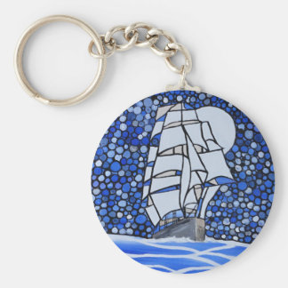 valiant ship basic round button key ring
