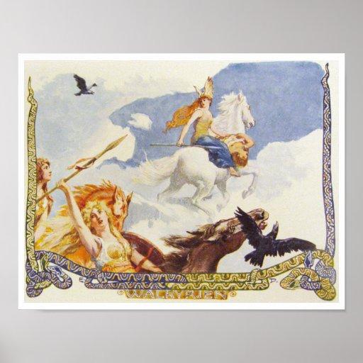 Valkryies Ride to Valhalla Poster