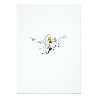 Valkyrie Amazon Warrior Flying Horse Cartoon 11 Cm X 16 Cm Invitation Card