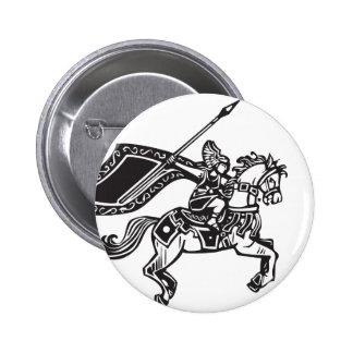Valkyrie on Horse 6 Cm Round Badge