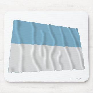 Valle del Cauca Waving Flag Mousepads