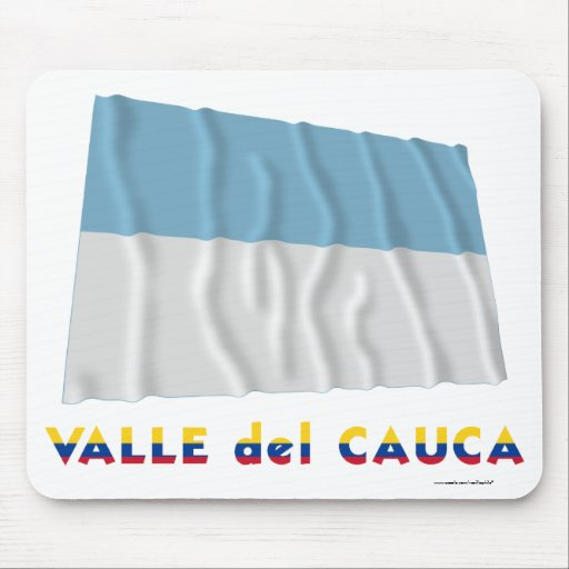 Valle del Cauca Waving Flag with Name Mouse Pad