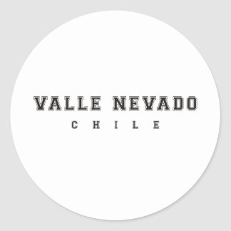 Valle Nevado Chile Classic Round Sticker