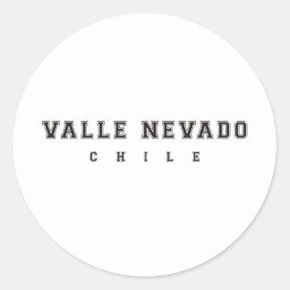 Valle Nevado Chile Round Sticker