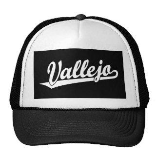 Vallejo script logo in white cap