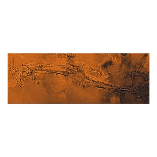 Valles Marineris Canyon System on Mars Panorama Poster