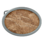 Valles Marineris Canyons of Mars Oval Belt Buckles