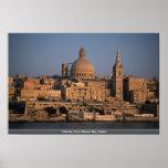 Valletta, from Sliema Bay, Malta Poster
