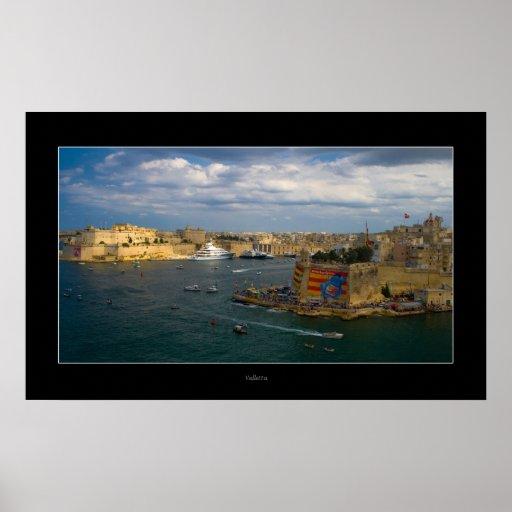 Valletta Harbour (Island of Malta) Poster