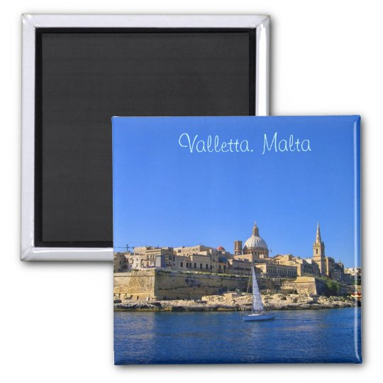 Valletta in sunny day magnet