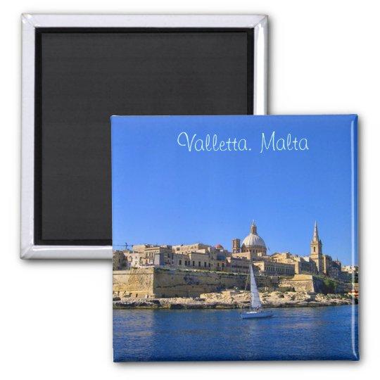 Valletta in sunny day square magnet