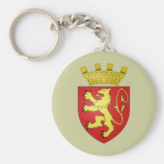 Valletta, Malta Basic Round Button Key Ring