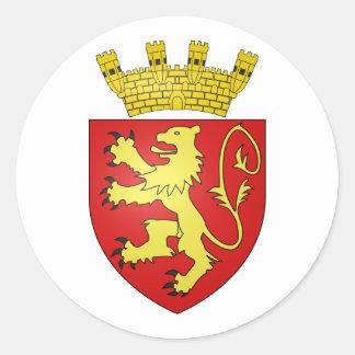 Valletta, Malta Round Sticker