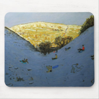 Valley and sunlit hillside Lathkill Dale Mouse Pad