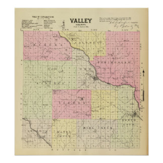 Valley County, Nebraska Poster