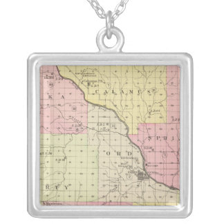 Valley County, Nebraska Silver Plated Necklace