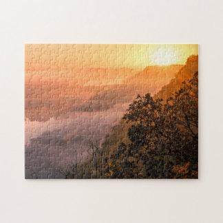 Valley Fog Sunrise Jigsaw Puzzle