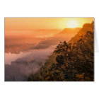 Valley Fog Sunrise Notecard