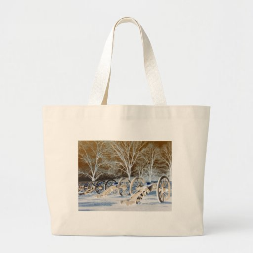Valley Forge, Pa. Cannons (modified Colors) Canvas Bags