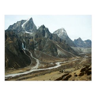 Valley in High Himalaya Close to Mount Everest Postcard