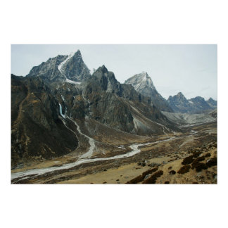 Valley in high Himalaya close to Mount Everest Posters