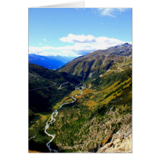 Valley in Switzerland Card