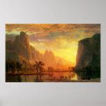 Valley in Yosemite by Bierstadt Poster