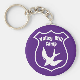 Valley Mill Camp Original Barn Swallow Basic Round Button Key Ring