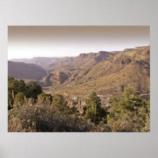 Valley near Velarde New Mexico - Poster