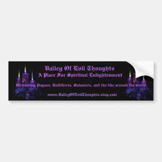 Valley of Evil Thoughts Bumper Sticker 1