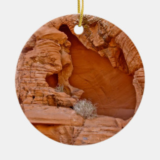 VALLEY OF FIRE ERODED DESERT ROCKS DETAIL CHRISTMAS ORNAMENT