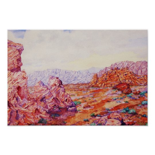 VALLEY of FIRE, LAS VEGAS Poster