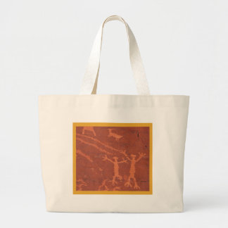 Valley of Fire Rock Carving Large Tote Bag
