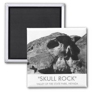 Valley of Fire Skull Rock Square Magnet