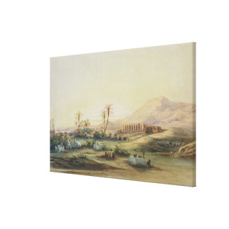 Valley of Nile with Ruins of the Temple of Canvas Print