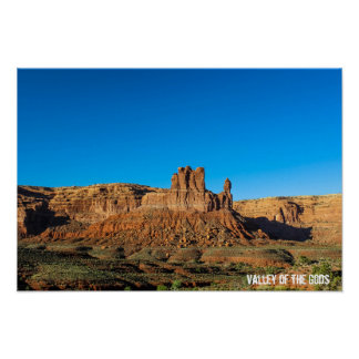 Valley of the Gods Blue Skies Butte Poster