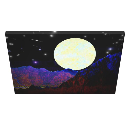 Valley of the Moon Stretched Canvas Print