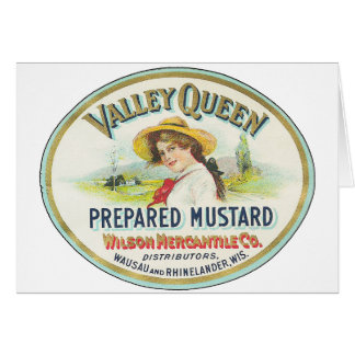 Valley Queen Prepared Mustard Greeting Card