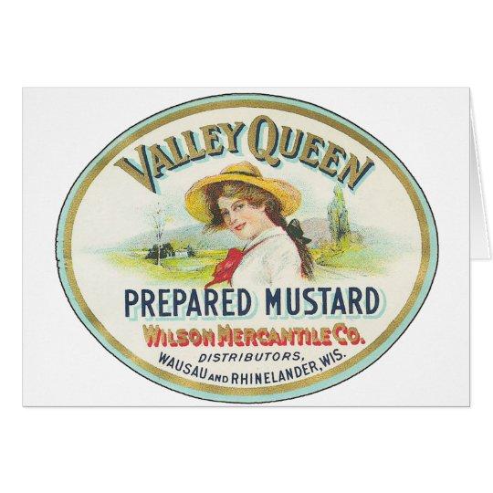 Valley Queen Prepared Mustard Card
