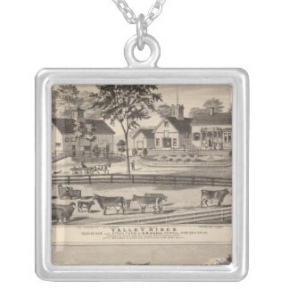 Valley Ridge and Buell residences Silver Plated Necklace